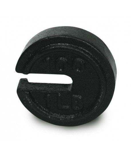 Fairbanks 100 lb x 1/2 lb ASTM Class 7 Round Slotted Counterpoise Weight (Fairbanks PN PBC32)