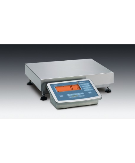 "Minebea Intec MW2S1U-60FE-L Midrics Complete Scale, 120 lb x 0.01 lb, 19.5"" x 15.75"" platform, stainless steel"