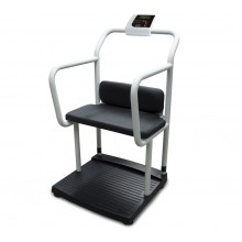 Rice Lake Weighing 250-10-4BT Bariatric Handrail Scale with Chair Seat, 1000 lb x 0.2 lb, with USB and Bluetooth