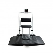 Rice Lake Weighing 350-10-4BT Dual Ramp Wheelchair Scale with Chair, 1000 lb x 0.2 lb, with USB and Bluetooth 2.0