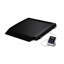 Rice Lake Weighing 350-10-7BT Single Ramp Wheelchair Platform Scale, 1000 lb x 0.2 lb, with USB and Bluetooth