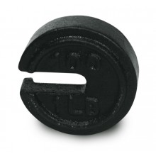 Howe 25 lb x 25/64 lb (6 1/4 oz) ASTM Class 7 Round Slotted Counterpoise Weight (Howe PN 40807092)