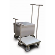 Rice Lake Weighing 100 kg ASTM Class 6 Clean Room Weight Cart, no accredited certificate