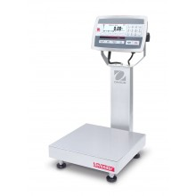 Ohaus D52XW12WQR6 Defender 5000 Column Mount Washdown Bench Scale, 25 lb x 0.005 lb, NTEP Certified