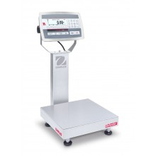 Ohaus D52XW25RQR1 Defender 5000 Column Mount Bench Scale with Stainless Steel Indicator, 50 lb x 0.01 lb, NTEP Certified