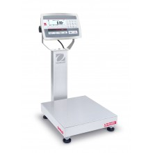 Ohaus D52XW12RTR1 Defender 5000 Column Mount Bench Scale with Stainless Steel Indicator, 25 lb x 0.005 lb, NTEP Certified