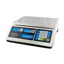 CAS ER Jr. ERJR30L Price Computing Scale, 15/30 lb x 0.005/0.01 lb, LCD display,  NTEP approved