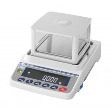 "A&D Apollo GX-1603A Precision Balance, 1620 g x 0.001 g with internal calibration and 2.9"" high breeze break"