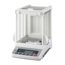 "A&D Apollo GX-224A Analytical Balance, 220 g x 0.0001 g with internal calibration and 8.8"" high breeze break"
