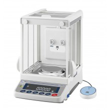 "A&D Apollo GX-124AE Analytical Balance, 122 g x 0.0001 g with internal calibration, built-in ionizer and 8.8"" high breeze break"