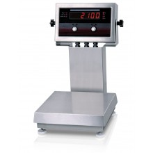 "Rice Lake Weighing IQ plus 2100SL Series Bench Scale with 12"" column, 10"" x 10"" platform, 5 lb x 0.001 lb, NTEP approved"