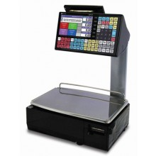 Ishida Uni-5 Elevated Dual Range Price Computing Scale with Printer, 30 lb x 0.01 lb, RF, NTEP approved