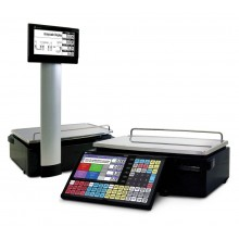 Ishida Uni-5 Price Computing Scale with Pole and Printer, 60 lb x 0.02 lb, RF, NTEP approved