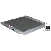 Rice Lake Weighing RL-350-6BT Dual Ramp Wheelchair Scale, 1000 lb x 0.2 lb, with USB and Bluetooth